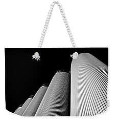 Five Silos In Black And White Weekender Tote Bag