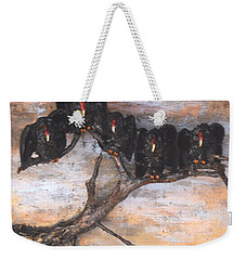 Five Vultures In Tree Weekender Tote Bag