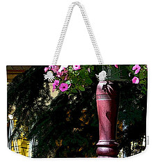 Flag And Flowers 6110 Pe Weekender Tote Bag