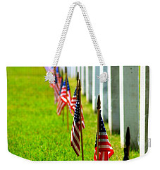 Flags In Weekender Tote Bag by Patti Whitten