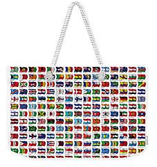 Flags Of The World Weekender Tote Bag by Carsten Reisinger