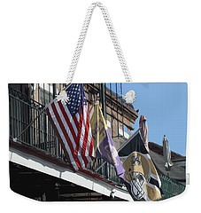 Flags On Bourbon Street Weekender Tote Bag by Donna G Smith