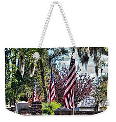 Weekender Tote Bag featuring the photograph Flags That Stand by Victor Montgomery