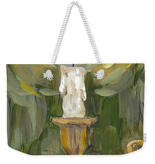 Weekender Tote Bag featuring the painting Flame by Maria Langgle