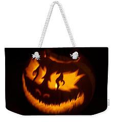 Flame Pumpkin Side Weekender Tote Bag
