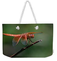 Flame Skimmer Dragonfly Weekender Tote Bag