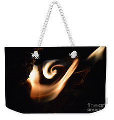 Weekender Tote Bag featuring the photograph Flame Thrower by Brian Boyle