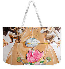 Flamenco Of Fertility  Weekender Tote Bag by Lazaro Hurtado