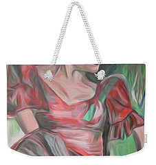 Weekender Tote Bag featuring the painting Flamenco Solo by Ecinja Art Works