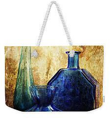 Flaming Blue Weekender Tote Bag