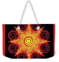 Flaming Celtic Sun Weekender Tote Bag