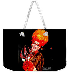 Halloween Flamming Devilish Deva Costume In The French Quarter Of New Orleans Weekender Tote Bag