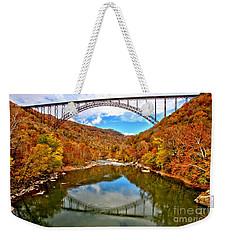 Flaming Fall Foliage At New River Gorge Weekender Tote Bag