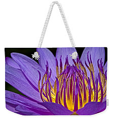 Flaming Heart Weekender Tote Bag by Susan Candelario