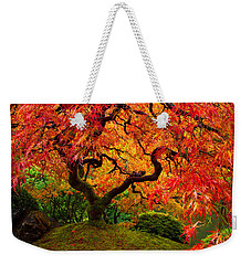 Flaming Maple Weekender Tote Bag