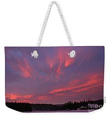 Flaming Morning Sky Weekender Tote Bag