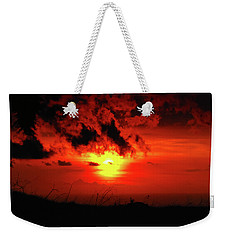 Flaming Sunset Weekender Tote Bag