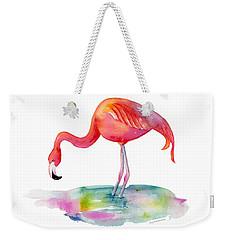 Flamingo Dip Weekender Tote Bag