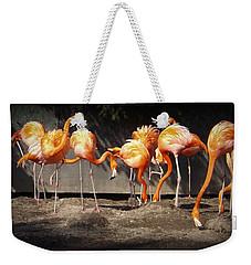 Flamingo Hangout Weekender Tote Bag