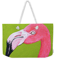 Flamingo Head Weekender Tote Bag