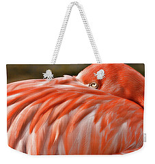 Flamingo Weekender Tote Bag by Lana Trussell