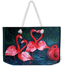 Flamingo Love. Inspirations Collection. Special Greeting Card Weekender Tote Bag