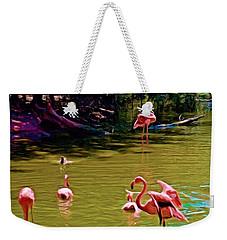 Flamingo Party Weekender Tote Bag