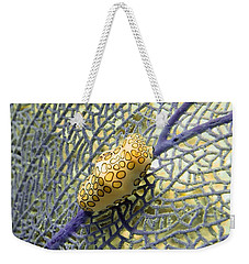 Flamingo Tongue Snail On Purple Fan Coral Weekender Tote Bag