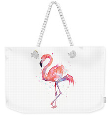 Flamingo Watercolor Weekender Tote Bag