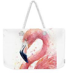 Flamingo Watercolor Painting Weekender Tote Bag