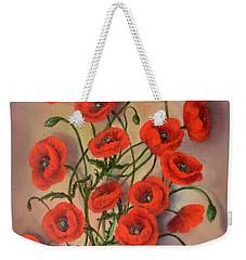 Flander's Poppies Weekender Tote Bag