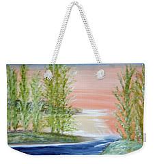 Flathead Lake Sunset Weekender Tote Bag