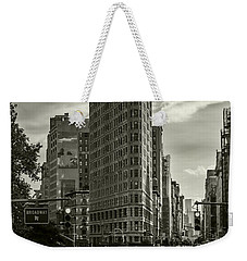 Flatiron Building - Black And White Weekender Tote Bag