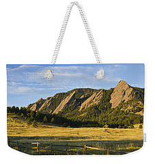 Flatirons From Chautauqua Park Weekender Tote Bag