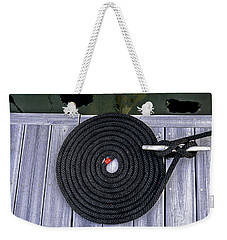 Flemish Flake Rope Coil Weekender Tote Bag by Marty Saccone