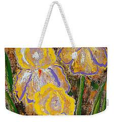 Fleur D' Iris Weekender Tote Bag
