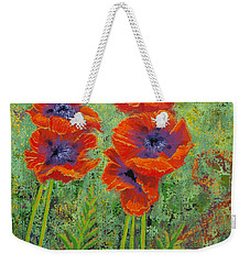 Fleurs Des Poppies Weekender Tote Bag by Margaret Bobb