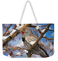 Flicker In Snow Weekender Tote Bag