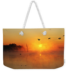 Flight At Sunrise Weekender Tote Bag