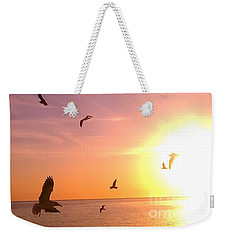 Flight Into The Light Weekender Tote Bag