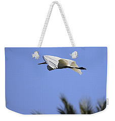 Weekender Tote Bag featuring the photograph Flight Of The Egret by Penny Meyers
