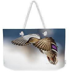 Flight Of The Mallard Weekender Tote Bag