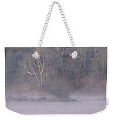Weekender Tote Bag featuring the pyrography Flint River 10 by Kim Pate