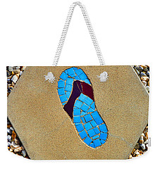 Square Flip Flop Stepping Stone One Weekender Tote Bag