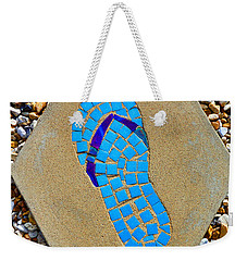 Square Flip Flop Stepping Stone Two Weekender Tote Bag