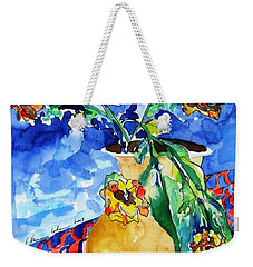 Flip Of Flowers Weekender Tote Bag by Esther Newman-Cohen
