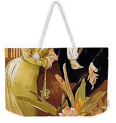 Flirt Weekender Tote Bag by Alphonse Mucha