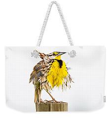 Flluffy Meadowlark Weekender Tote Bag