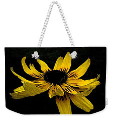 Weekender Tote Bag featuring the photograph  Black Eyed Susan Suspense by Ecinja