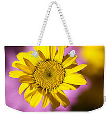 Weekender Tote Bag featuring the photograph Floating Daisy by Joy Watson